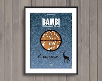 BAMBI, minimalist movie poster