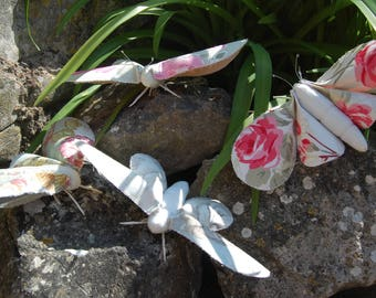 Beautiful Vintage Inspired Textile Art Moth