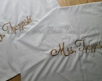 Personalized Pillowcases - Trendy Farmhouse decor - Wedding Gifts - Bridal shower gift - Monogram wedding couple Pillow case set