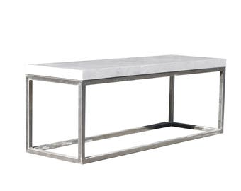Relentless™ Concrete Rendered & Steel Coffee/Side/TV Table