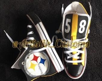 Pittsburgh Steelers Custom Hand Painted Converse