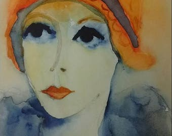 Portrait of a woman: Cécile