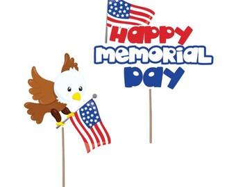 Cupcake Topper, Memorial Day cupcake toppers, Patriotic cupcake toppers, Memorial day decorations, Patriotic Decorations, party supplies