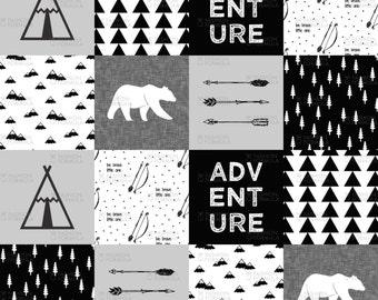 Adventure Wholecloth Fabric by littlearrowdesigncompany