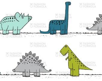 Dinos on Parade - Boys Fabric by littlearrowdesigncompany