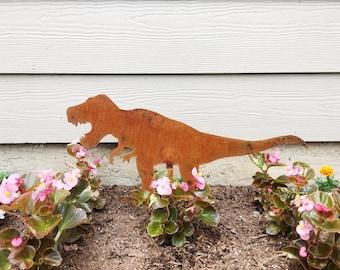 T Rex Dinosaur Garden Decor - Metal Garden Dinosaur - Garden Art - Yard Decor - Tyrannosaurus