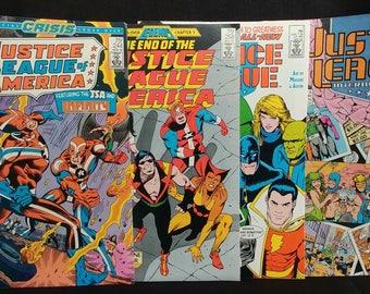 DC Comics Justice League Mixed Lot of 4 1985-89