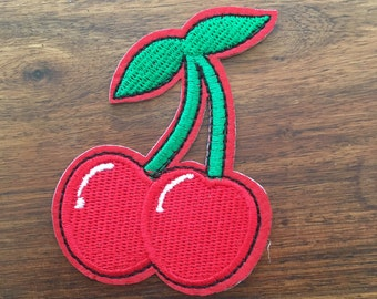 Cherries - Iron on Appliqué Patch