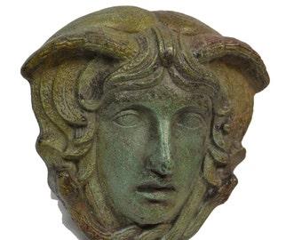 Medusa mask visor ancient Greek bronze reproduction sculpture
