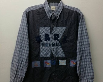 Rare KARL HELMUT Embroidered Button Down Casual