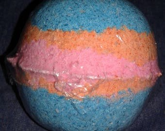 Custom rainbow bath bombs