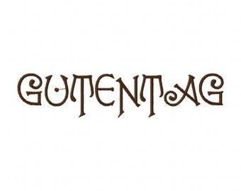 Guttentag Font Embroidery Font Set Instant Digital download