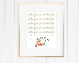 I Love You Digital Print #2