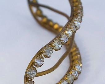 Large Antique 1910s Edwardian Belle Epoque Hair Ornament Decoration with Diamantés, perfect for the vintage bride