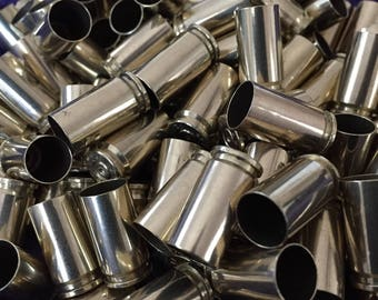 Empty 9MM Brass Bullet Casings Shells Cleaned, Inspected & Polished - 110 pieces ammo