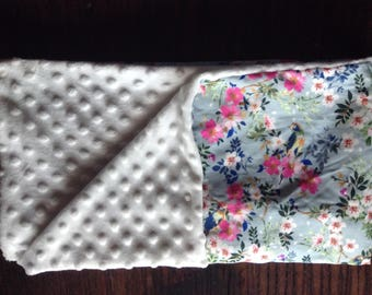 Floral Minky Baby Blanket