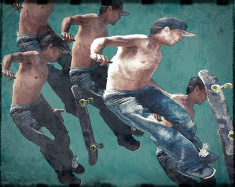 Venice Beach, California Skateboarding Photographic Art Print #3