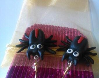 Polymer, Spider, Earrings, Jewellery