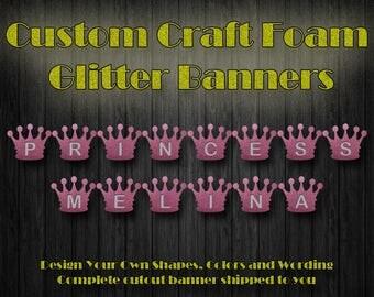 Craft Foam Princess Banner