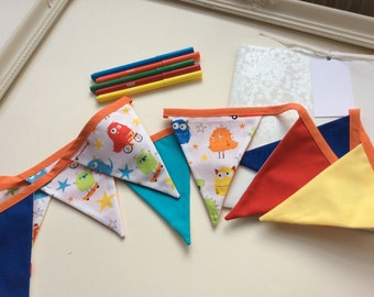 Monsters -  Childrens Bunting in a Bag