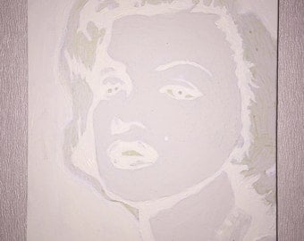 Marilyn Monroe Painting, glow in the dark painting, glow in the dark,