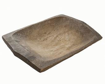 Small Wooden Dough Bowl, Vintage Wooden Dough Bowl