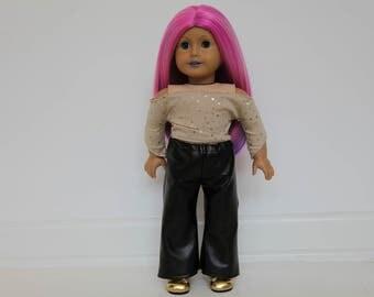 Custom American Girl Doll, Pink Hair