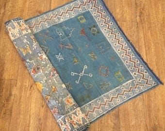 Original Silk Kilim-Semi Antique