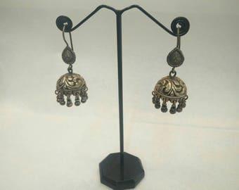 Silver earrings (chandelier style)