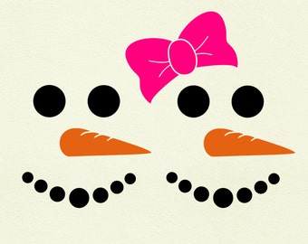 Snowman Face SVG Clipart Cut Files Silhouette Cameo Svg for Cricut and Vinyl File cutting Digital cuts file DXF Png Pdf Eps vector clip art