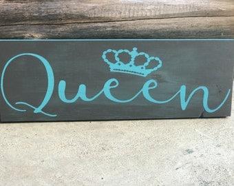 Queen Wood Sign