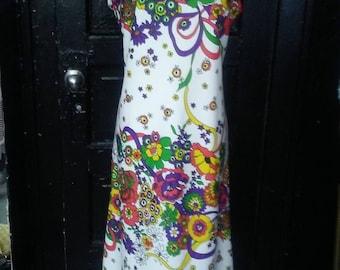 Vintage Floral Print Dress