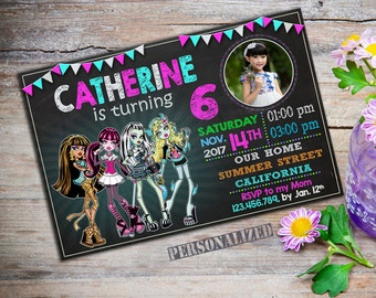 Monster High Invitation / Monster High Birthday / Monster High Party / Monster High Birthday Party / Monster High Printable_CB431
