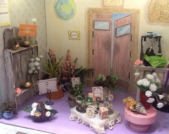 Friendly Flower Shop Miniature Roombox