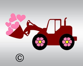 baby tractor truck  SVG Clipart Cut Files Silhouette Cameo Svg for Cricut and Vinyl File cutting Digital cuts file DXF Png Pdf Eps