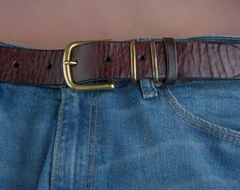 Genuine leather belt / Mens belt Мужской ремень из кожи буйвола