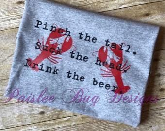 Crawfish Shirt, Crawfish Eating Shirt, Crayfish Shirt, Glitter Crawfish Shirt, Pinch The Tail Shirt