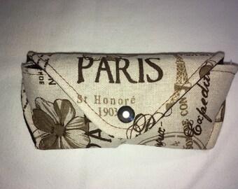 """Glasses case glasses case glasses case motif in """"Paris"""""""
