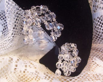 Marvella Cha Cha Crystal Earrings Signed