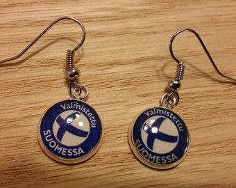 finland earrings suomi