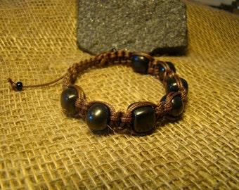 "Bracelet Shungite ""Shambala"" combined beads and the square of the   Karelia."