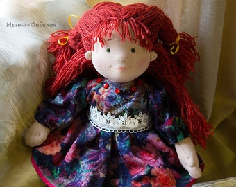 Waldorf handmade doll Liza