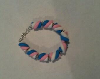 Trans Candy Twist Bracelet