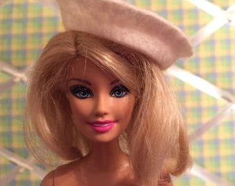 Barbie Doll Ken Doll White Military Style Hat