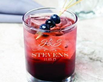 13 Custom Whiskey Glasses - Personalized Barware - Groomsmen - Best Man - Guy Gift - Rocks Glass Set - Engraved - Husband - Gift For Him
