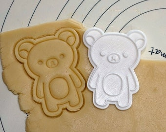 Standing Rirakuma Cookie Cutter and Stamp