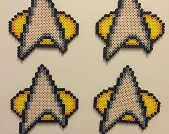 Star Trek Communicator Coaster Set - Perler Beads