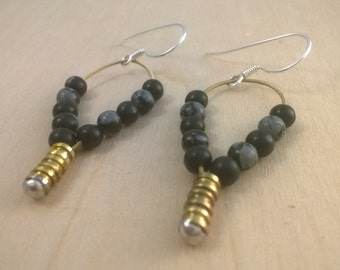 Earrings from guitar strings, recycled guitar string, arts & crafts