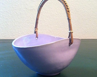 50s candy Bowl handle shell lilac