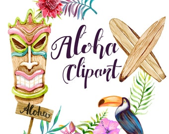 Clipart hawaiian – Etsy